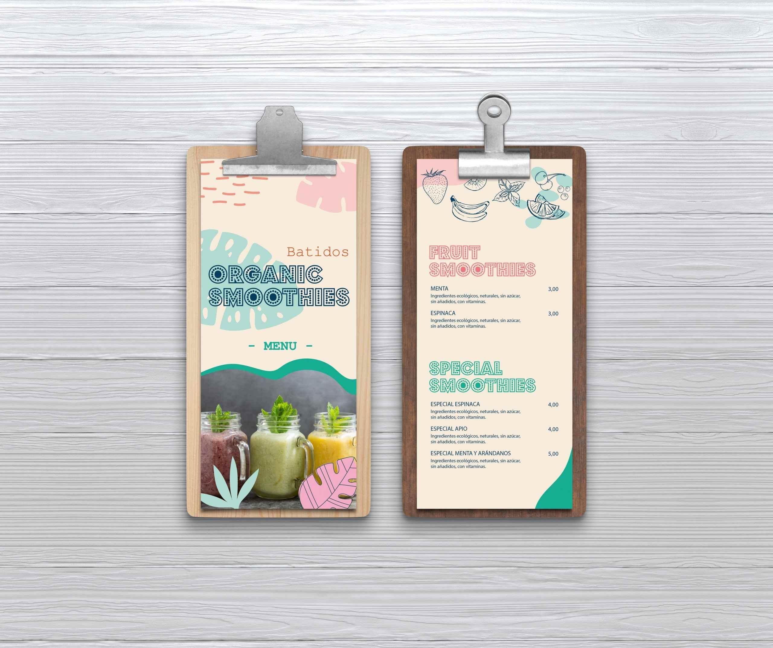 Impresion de Cartas de restaurantes
